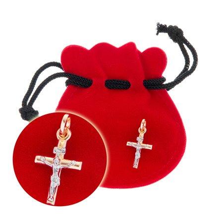 Złoty krzyżyk pr. 585 Krzyżyk z Jezusem ZK046