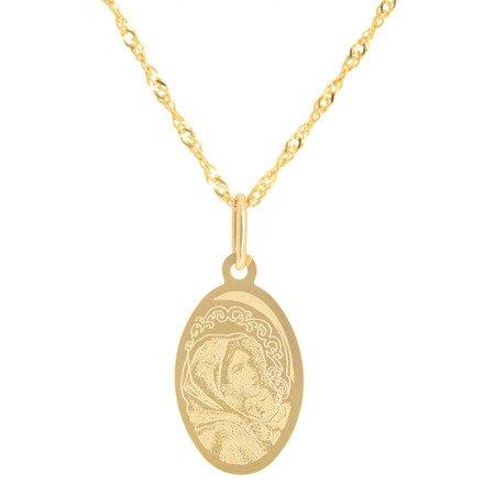 Złoty medalik pr. 585 M.B. Wędrowna owal ZM054