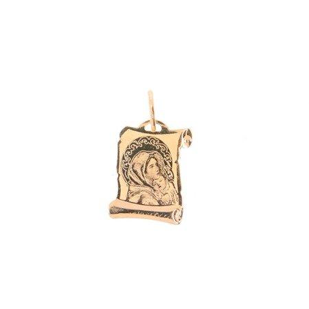 Złoty medalik pr. 585 M.B. Wędrowna papirus mały ZM006