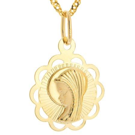 Złoty medalik pr. 585 Madonna  ZM097
