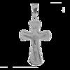 Medalik srebrny - Krzyżyk z wizerunkiem Jezusa MO128
