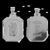 Medalik srebrny - Święty Florian M119