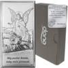 Obrazek srebrny Anioł na kładce Pamiątka Chrztu Świętego DS44
