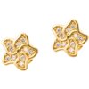 Złote kolczyki pr. 585 Kwiatek II cyrkonie sztyft ZA061