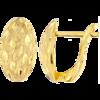 Złote kolczyki pr. 585 angielskie zapięcie diamentowane owalne łezki ZA204